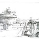 Castel sant'Angelo, china su carta
