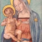 Madonna con bambino, tempera a uovo