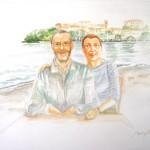 Bruna e Maurizio, acquerello