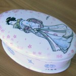 Scatola, pittura su ceramica
