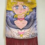 Borsa Sailor Moon, pittura su stoffa