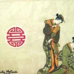 Geishe, colori per stoffe su cotone.